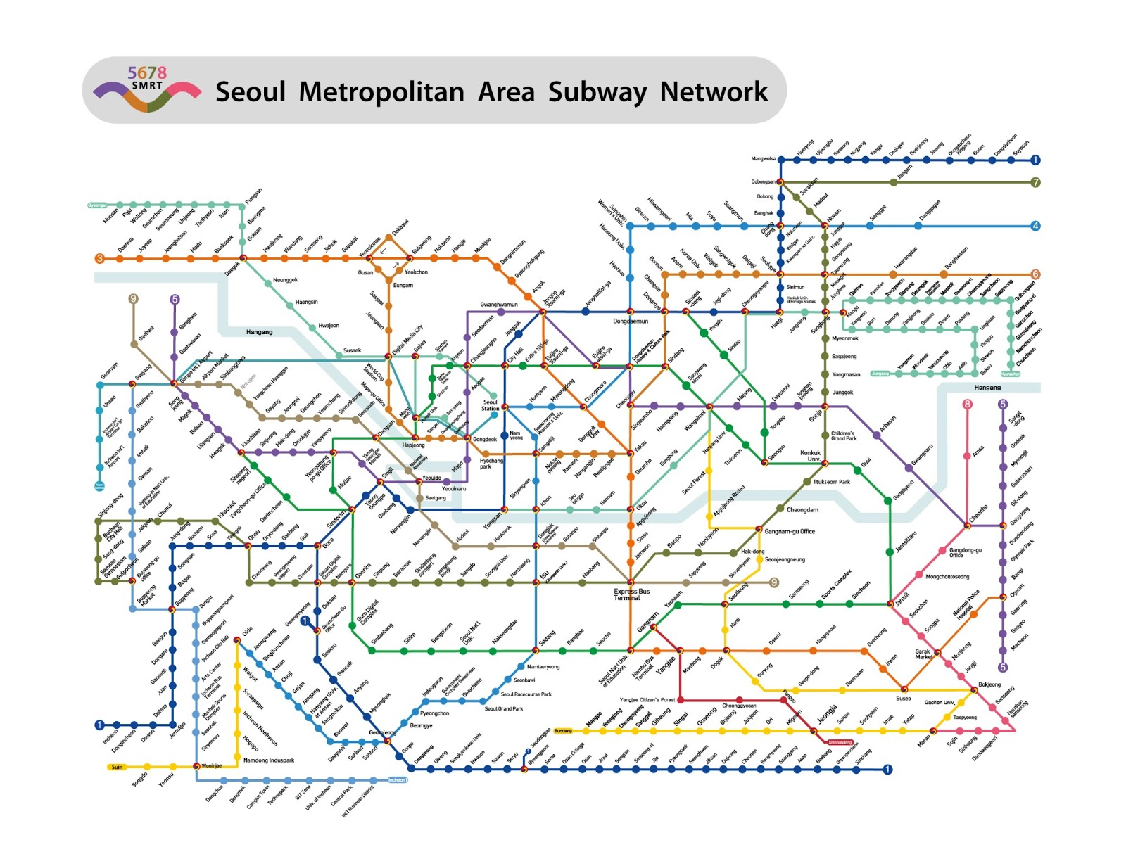 Ansan Seoul Subway Map.Welcome To Korea Seoul Subway Map