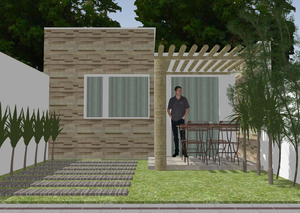 Casa 01 quarto em terreno pequeno 10 x R$7 90 Clique Projetos #242C17 1222x870 Banheiro Adaptado Medidas