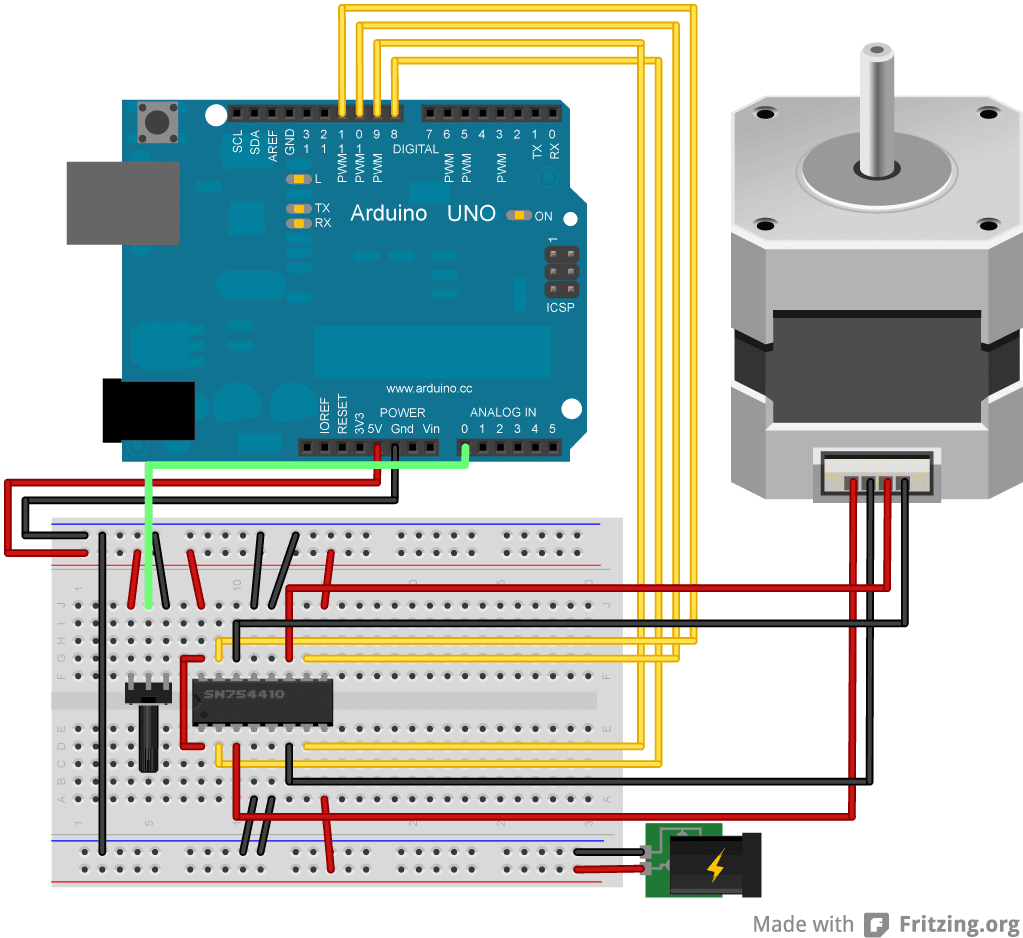 Arduino 3 Controlling Stepper Motor Using And Uln2003 Driver Circuit Diagram 555 Timer Ic The Schematic For Bipolar Is