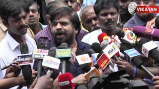 T. Rajendar casts vote, speaks to Media | TN Election 2016