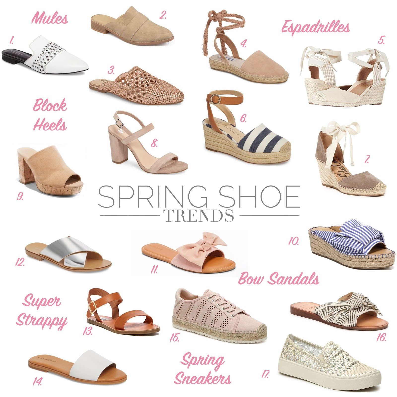 2b35e40391f0 Spring Shoe Trends - Ashley Donielle
