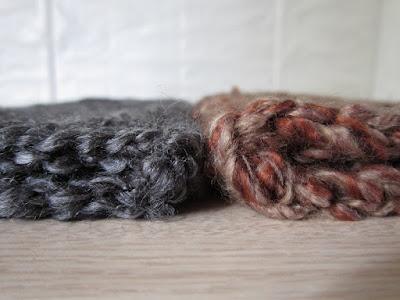 crochet, mittens, gauge, Country Loom, Homespun