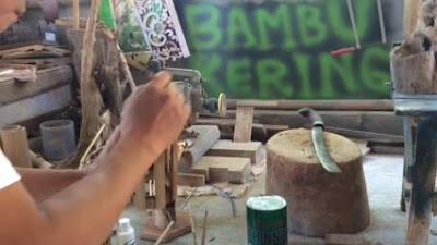 lampu hias dari bambu unik dan cara pembuatannya sederhana