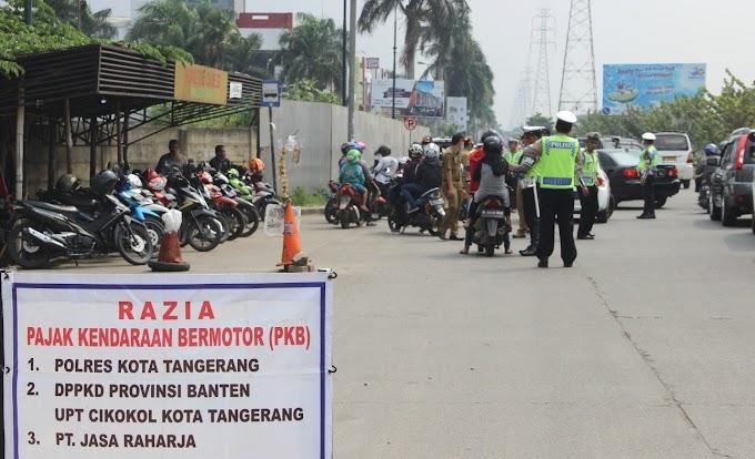 Razia Samsat Cikokol Jaring Ratusan Kendaraan