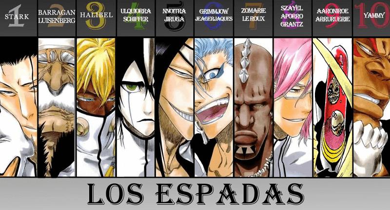 anggota espada di anime bleach