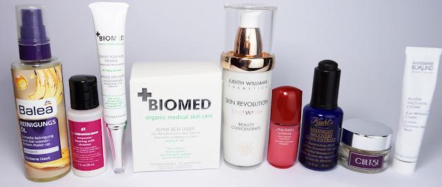 7 Tage - 7 verschiedene Hautpflege-Routinen am Abend Biomed, Judith Williams, Balea, Shiseido, Cult51