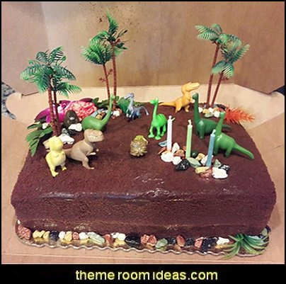 Disney The GOOD DINOSAUR Birthday CAKE Topper Set Featuring Spot Arlo Thunderclap Butch