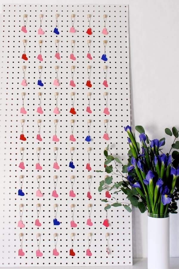 love note peg board
