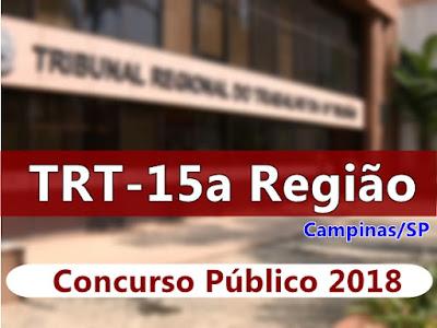 Concurso Público do TRT Campinas -  Tribunal Regional do Trabalho da 15ª Região - SP