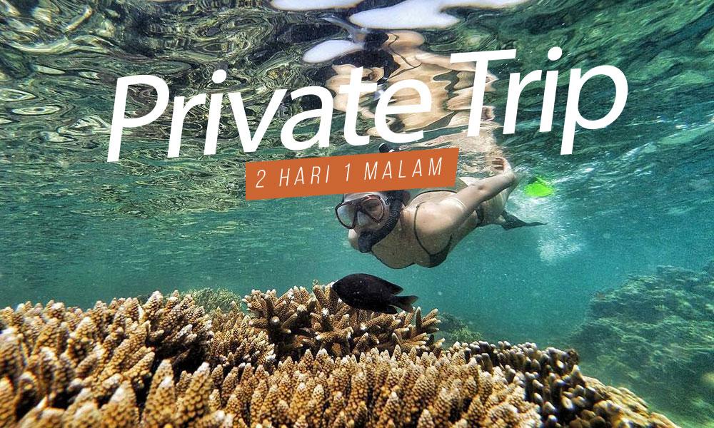 paket wisata pulau harapan private trip