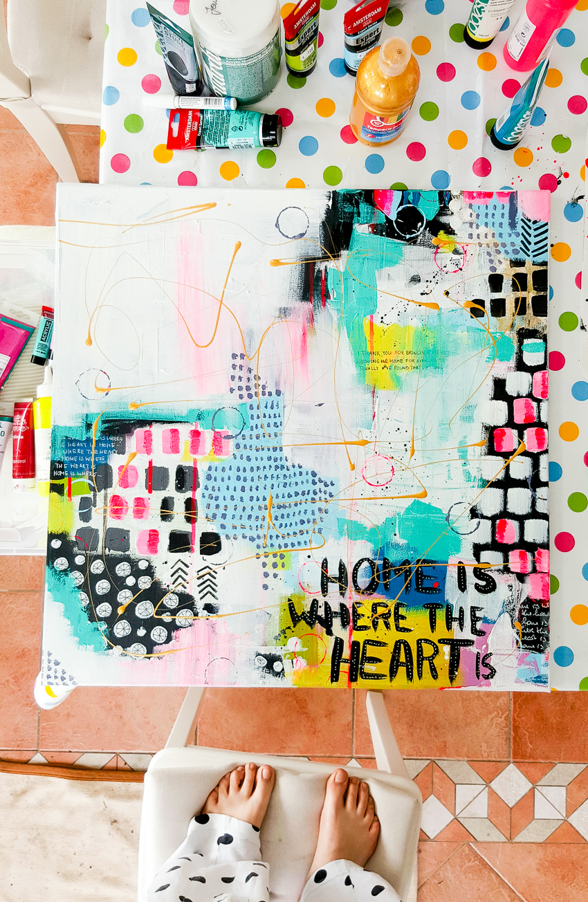 Mixed Media Leinwand | Home | Janna Werner