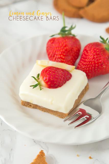 lemon ginger cheesecake bars