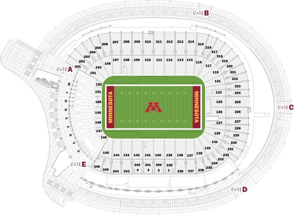 tcf stadium seating chart - Images for tcf stadium seating chart