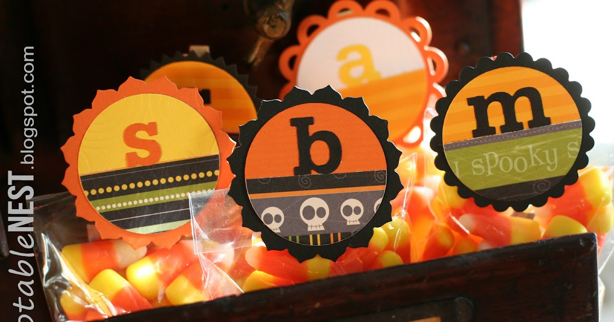 Notable Nest: Halloween Treat Toppers on Inspired by Family