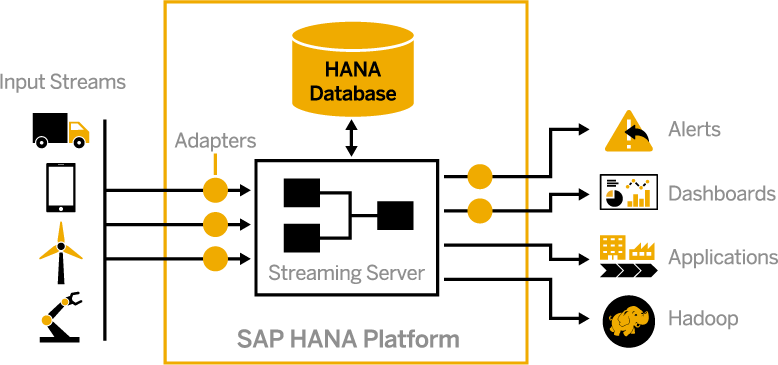 integrated machine learning capabilities provide sap hana streaming  analytics with the ability to generate and use predictions in real time