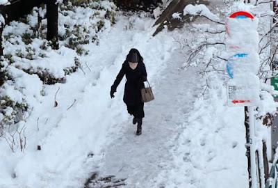 Frente fria histórica estacionou sobre o Japão