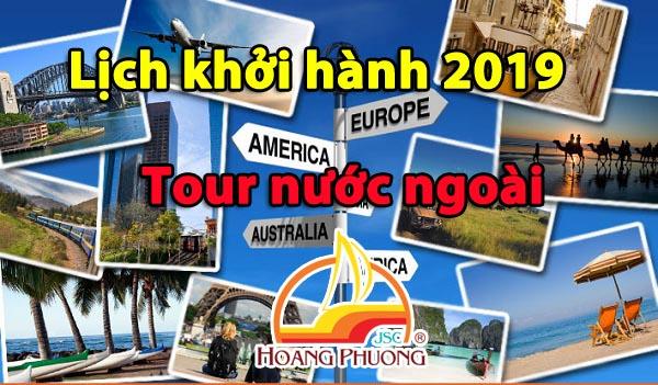 Lịch Khởi hành các tour du lịch Hải Phòng năm 2019