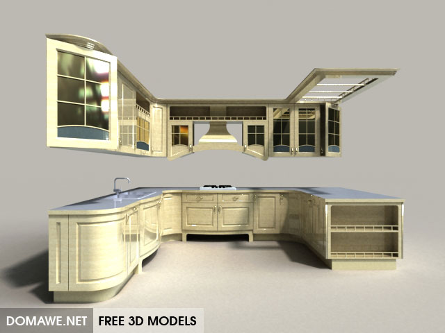 DOMAWE net: Beatrice Kitchen Furnitures 3D Model Free Download