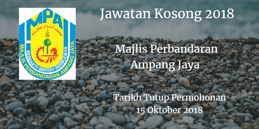Jawatan Kosong MPAJ 15 Oktober 2018