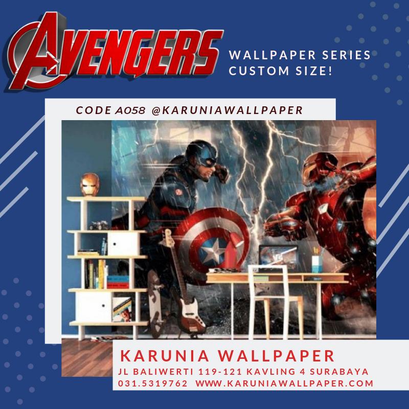 jual wallpaper kamar anak cowok superhero
