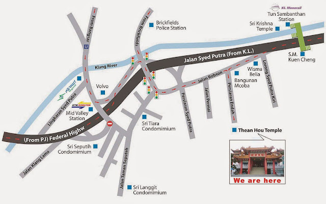 map of thean hou temple KL