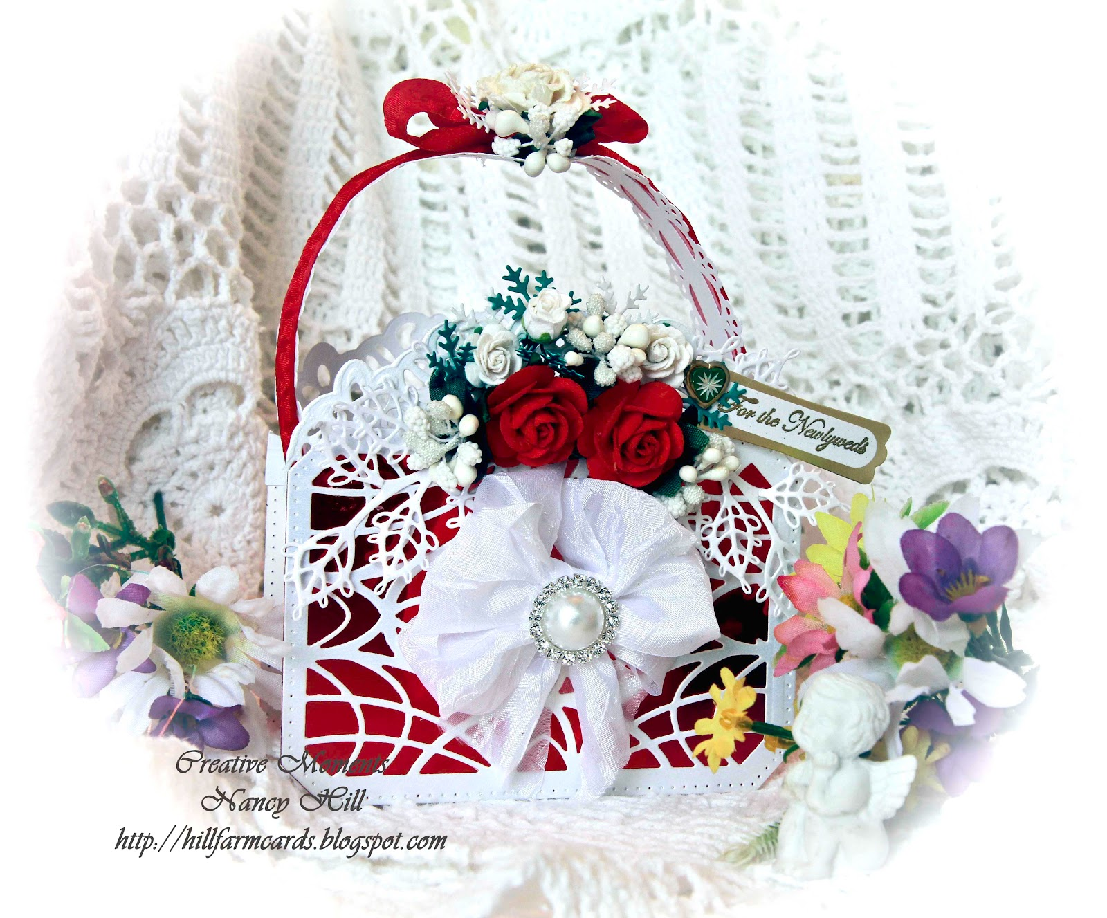 Creative Moments by Nancy Hill: Wedding Purse gift bag
