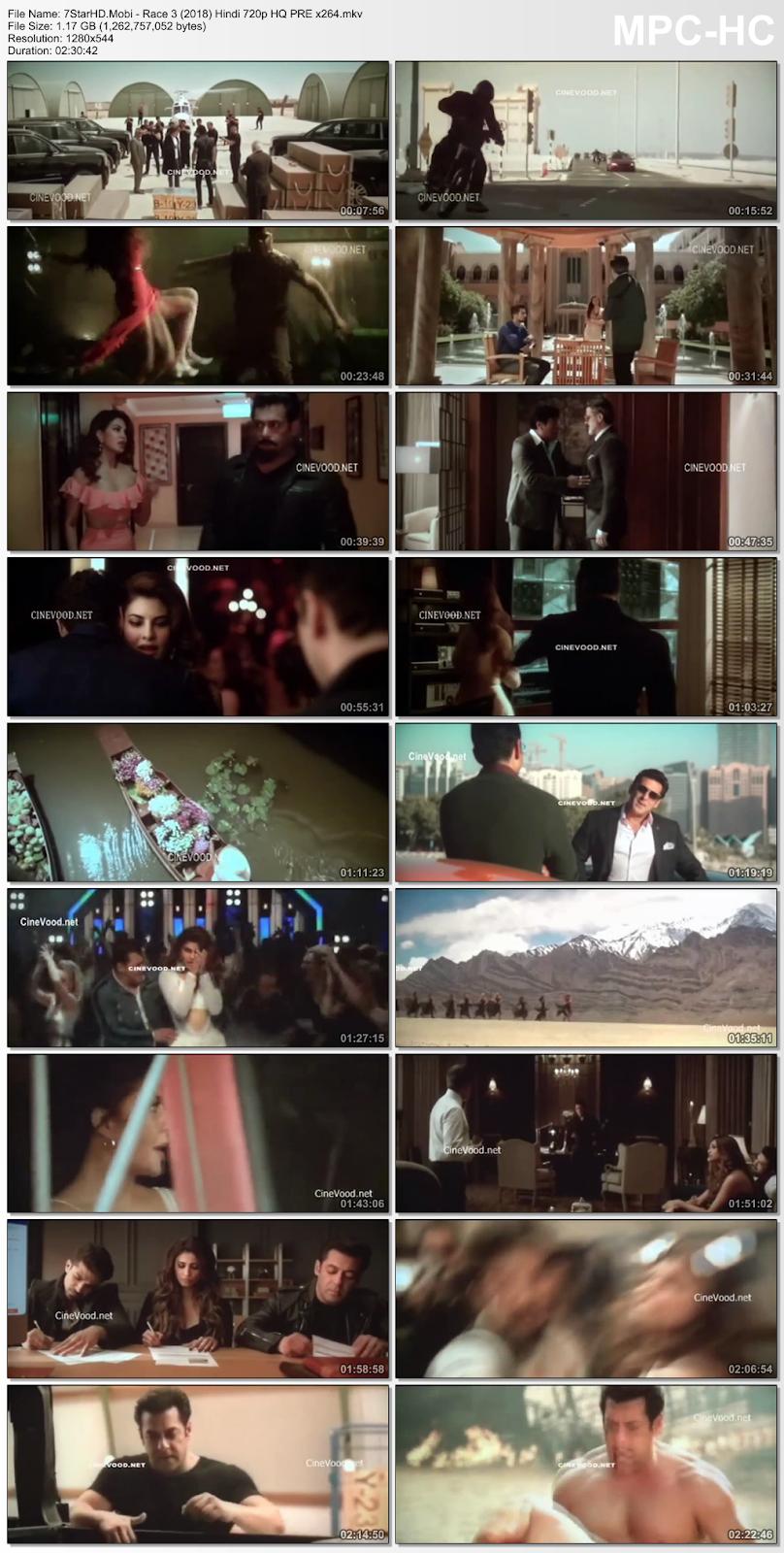 Race 3 (2018) Hindi HQ 720p Pre-DVDRip x264 1.2GB 2