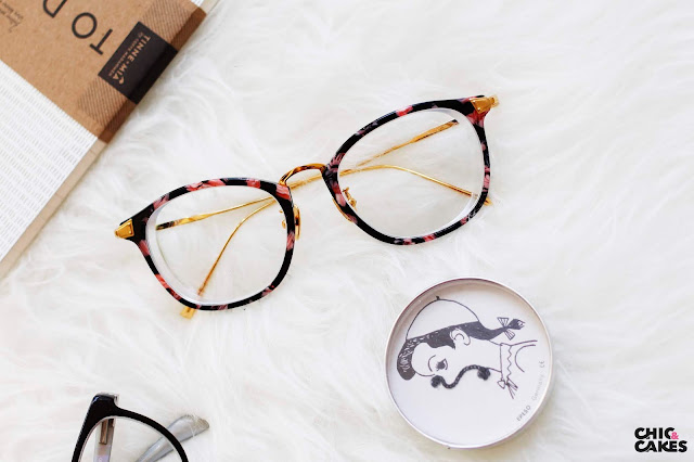 gafas hipster de flores