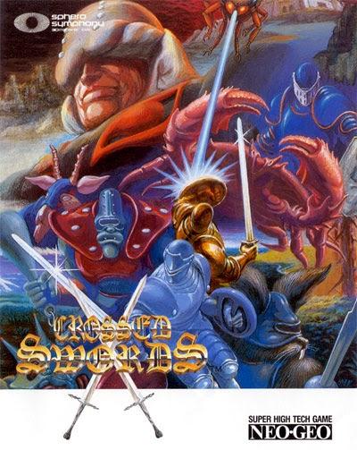 Crossed Swords arcade game portable flyer