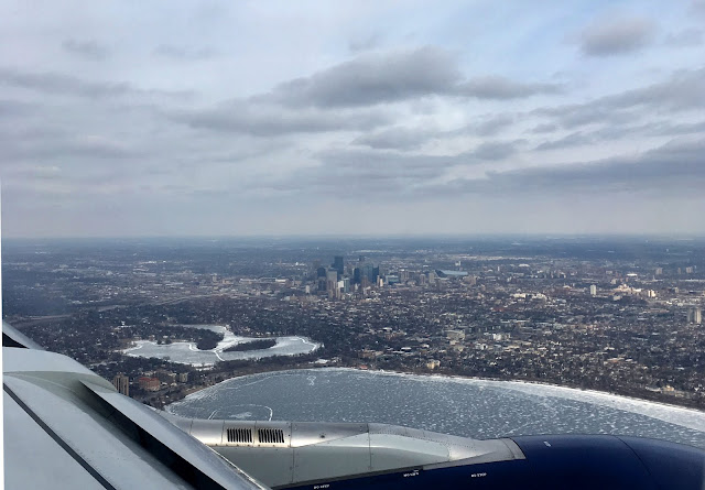 Anflug auf Minneapolis