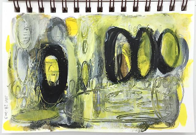 art journal entry - Shape - Jan-28-2019
