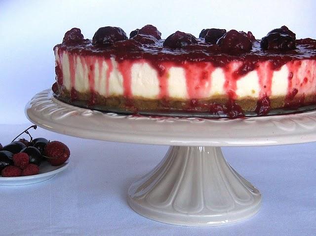 cheesecake frutos vermelhos queijo mascarpone