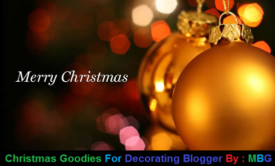 Christmas Goodies, Decorate Blogger Blog