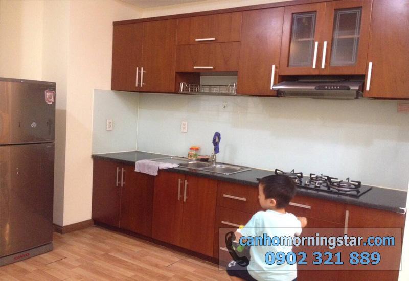cho thuê căn hộ Morning Star quận Bình Thạnh 3PN - tủ bếp