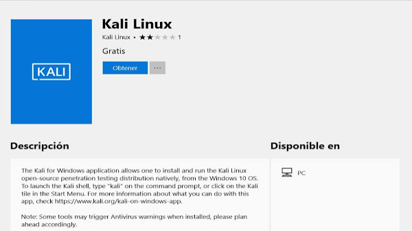 Surprising.. KALI system LINUX now available as an application Versions can you run it and try to hack