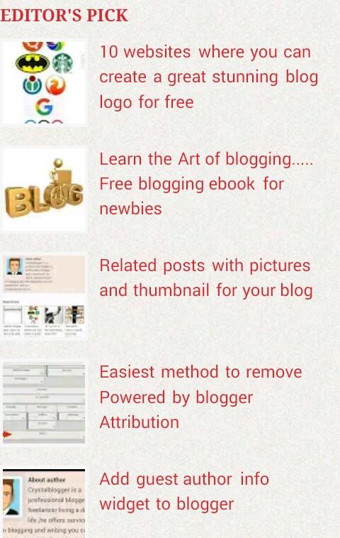 blogger Random post widget