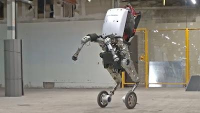 Handle-workspace robot