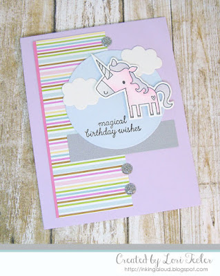 Magical Birthday Wishes card-designed by Lori Tecler/Inking Aloud-stamps and dies from Reverse Confetti