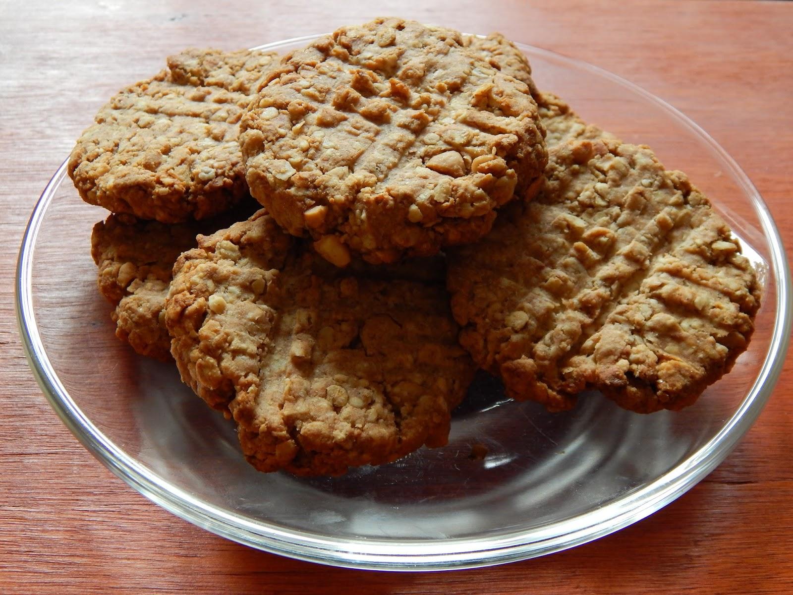 Zdravé ovesné arašídové sušenky