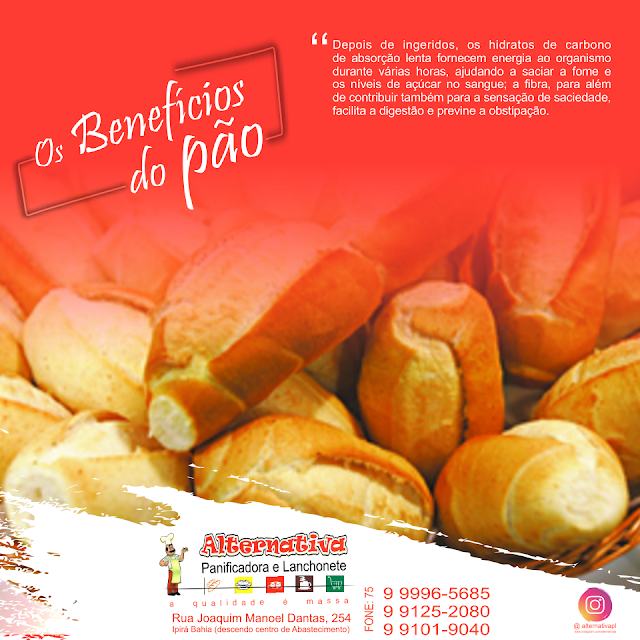 Os benefícios do pão