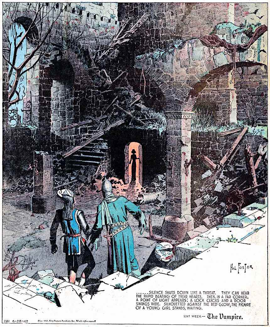 Hal Foster, 1922 color comic