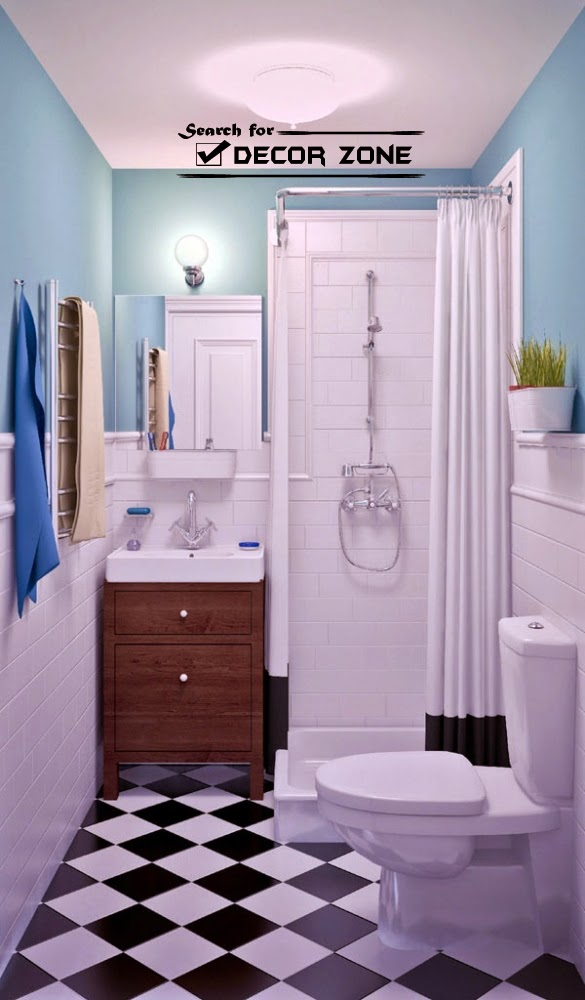 One-bedroom studio apartment design with open interior on Small Apartment Bathroom Ideas  id=39384