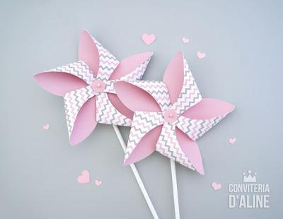 cata vento chevron rosa cinza elefantinha