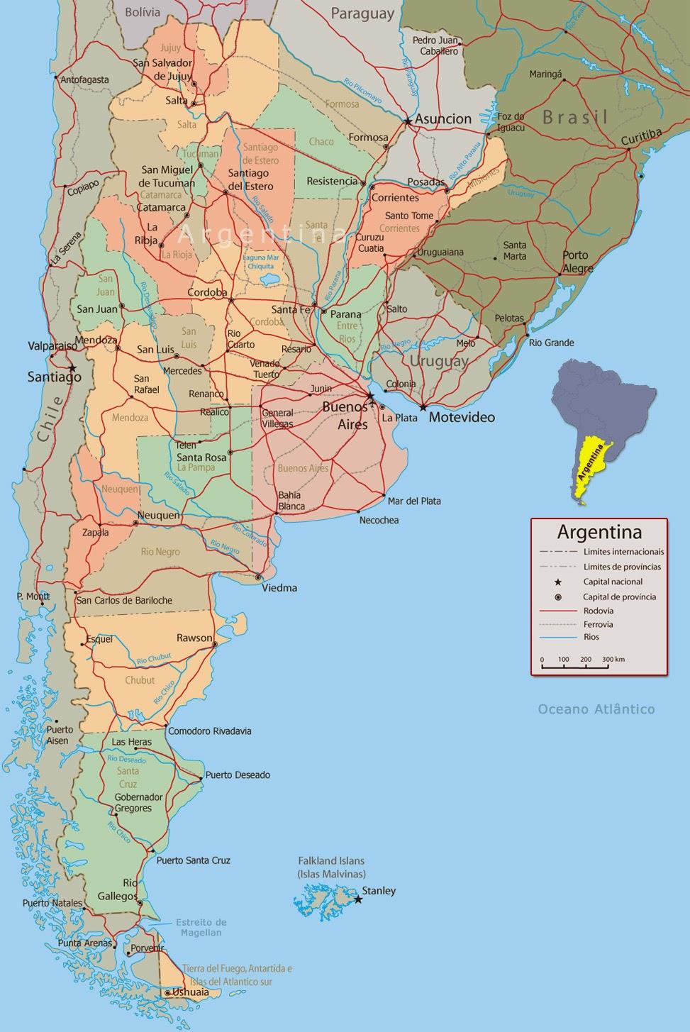 Argentina | Mapas Geográficos da Argentina