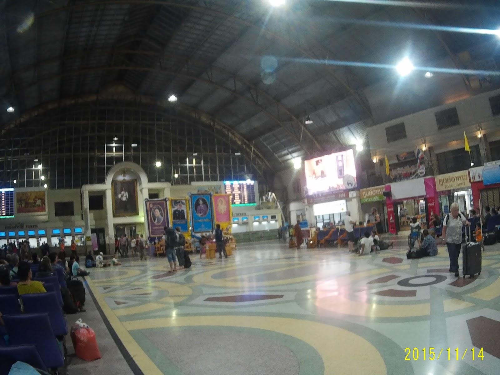 Estação de trem em Bagkok