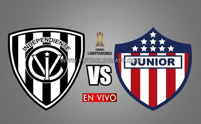 Independiente del Valle recibe a Junior en vivo por la jornada dos Grupo A Copa Libertadores desde las 19h30 horario local a realizarse en el Estadio Municipal General Rumiñahui, siendo el árbitro principal peruano Diego Haro con transmisión del medio oficial ESPN 2.