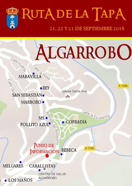 Ruta de la tapa subtropical Algarrobo 2018