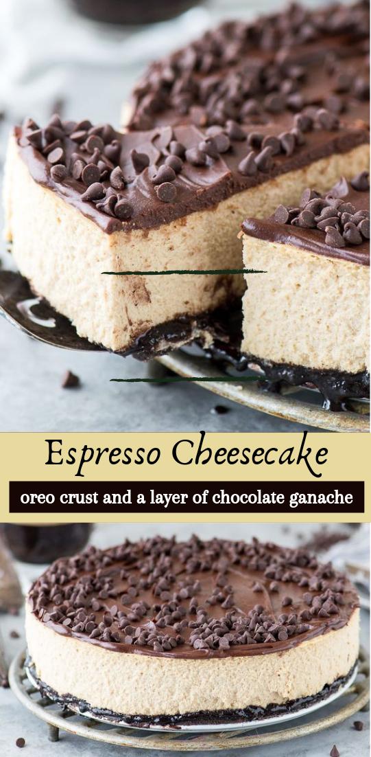 Espresso Cheesecake #desserts #cakerecipe