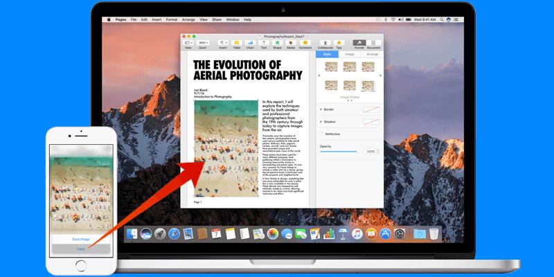 use universal clipboard on mac