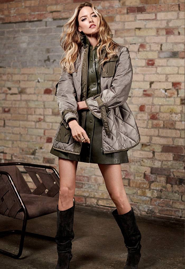 Holt Renfrew The New Utility Lookbook featuring Martha Hunt